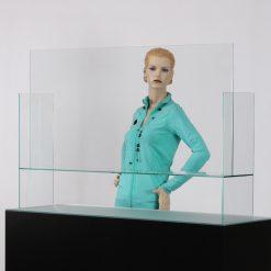 Hustenschutz aus Glas