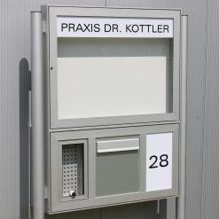 Briefkasten-Anlage mit Prospektfach
