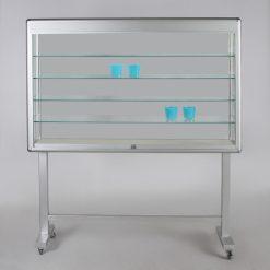 Bewegliche Innenvitrine aus Glas