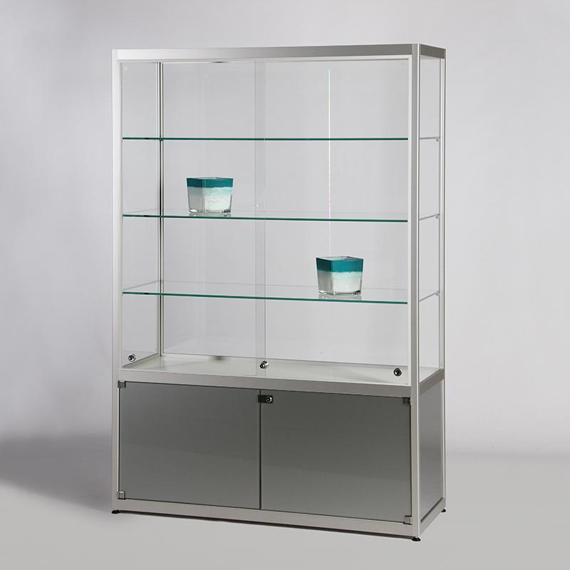 smart b27 schrankvitrine mit schiebet ren glasvitrine online g nstig kaufen vom vitrinen. Black Bedroom Furniture Sets. Home Design Ideas