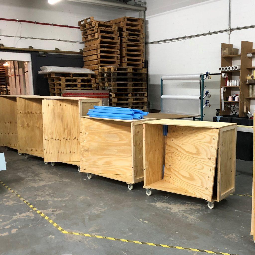 Transportbox für Glasvitrinen